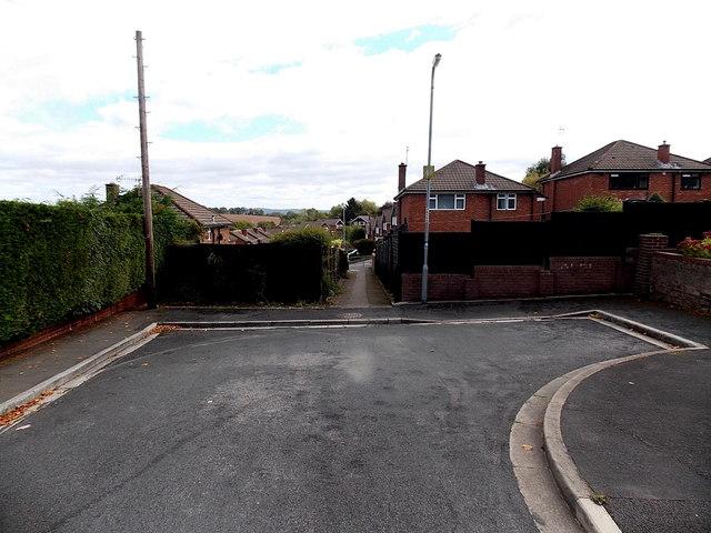 Eastern end of Woodlands Drive, Malpas, Newport