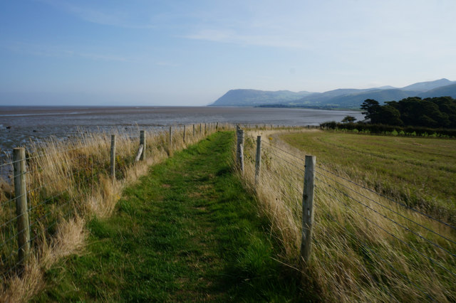 Wales  Coast Path towards Coed Cyfynys