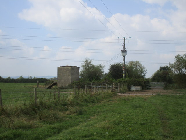 Footpath and pumping station