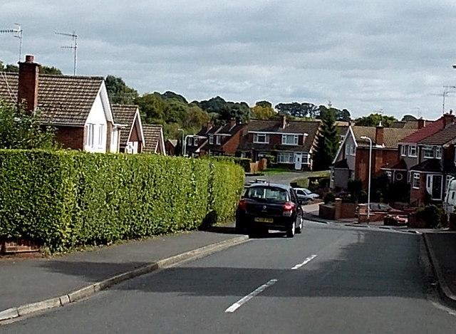 Western end of Robertson Way, Malpas, Newport