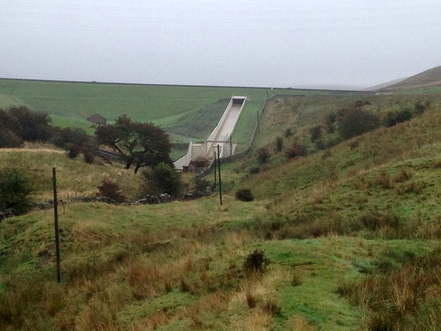 Newly-constructed spillway