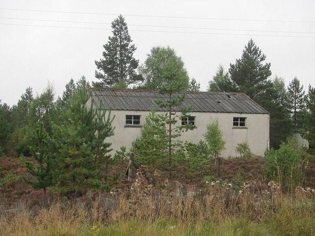 Derelict building by the A9