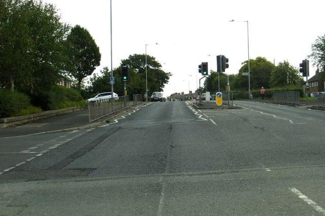 Pelican crossing on Blackpool Road