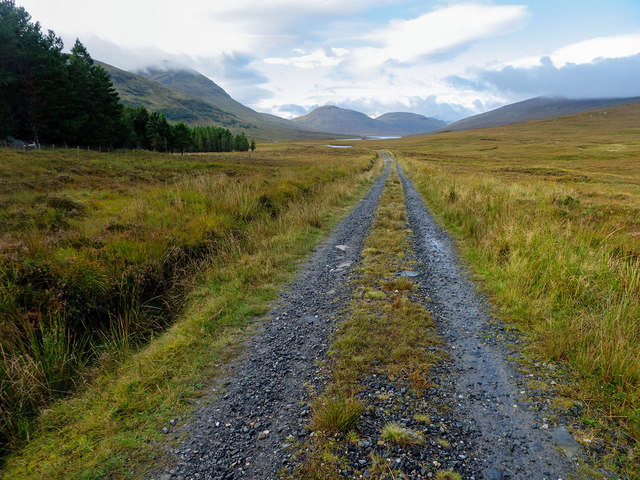 Track towards the Western Fannichs