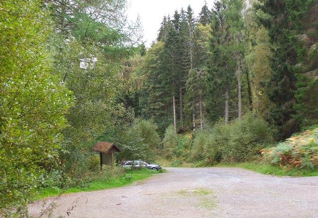 Car park, Logierait Woods