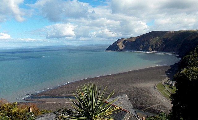 Across Lynmouth Bay towards Foreland Point from Lynton