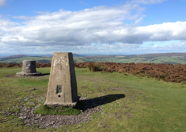 Trig Point at Pole Bank, The Long Mynd