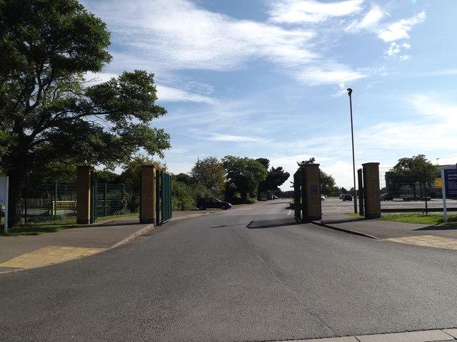 Entrance to Gainsborough Sports & Community Centre
