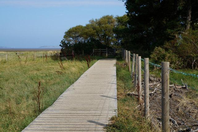 Wales  Coast Path at Morfa Aber Nature Reserve