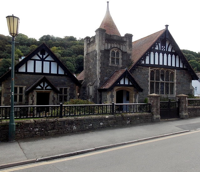 URC hall and church in Lynton
