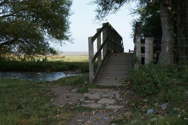Footbridge over the Afon Aber