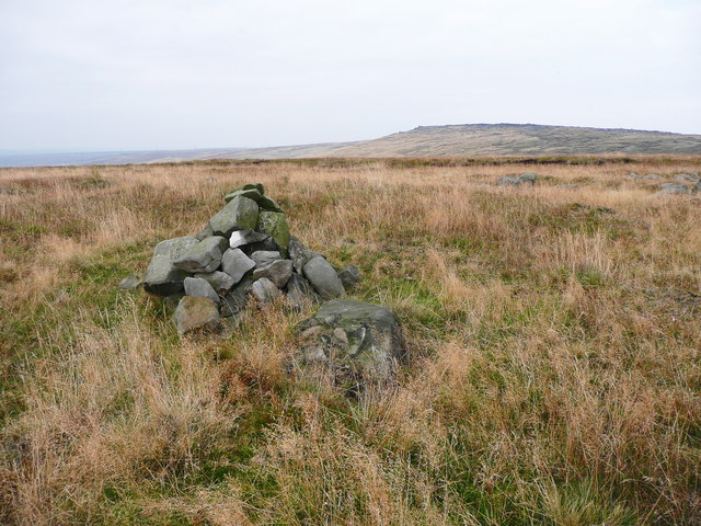 Cairn on the summit of Low House Moor