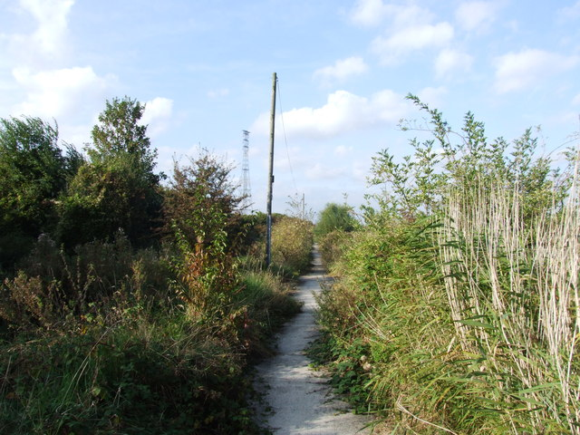 Footpath near Swanscombe Marshes