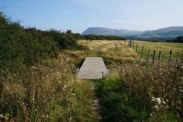 Wales  Coast Path towards Llanfairfechan