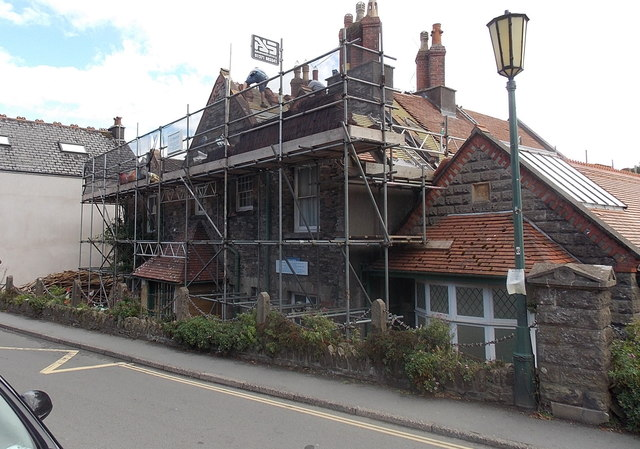 Reroofing the former Cottage Hospital in Lynton