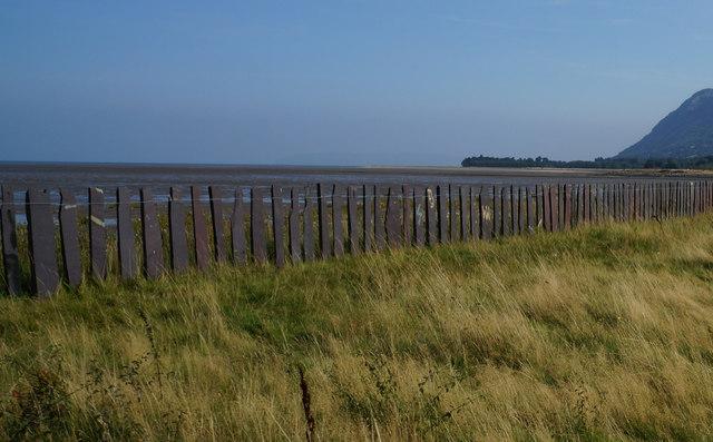 Slate fencing along the Wales Coast Path