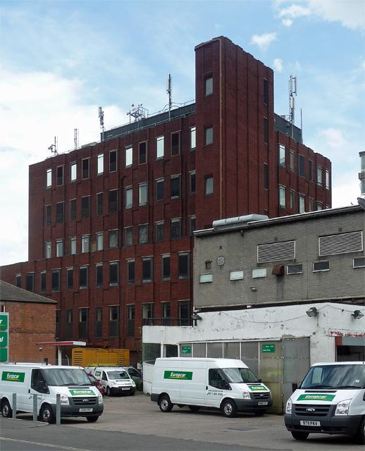 Telephone exchange, Becket Street, Derby