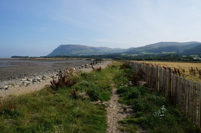 Wales  Coast Path towards Llanfairfechan
