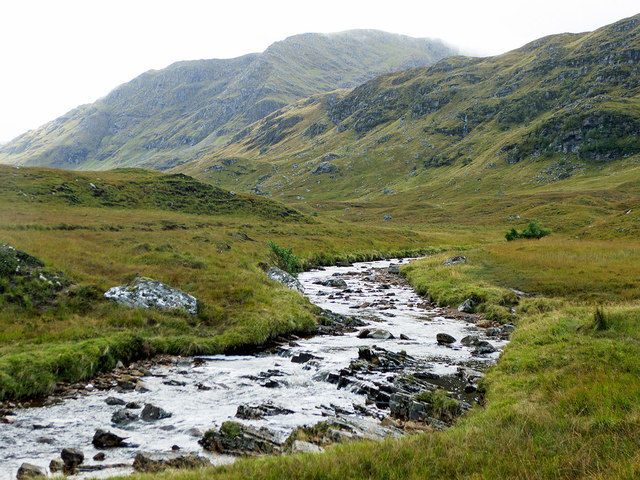 Looking up the Allt Breabaig