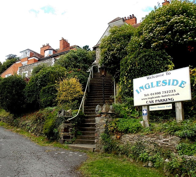 Steps up to Ingleside, Lynton