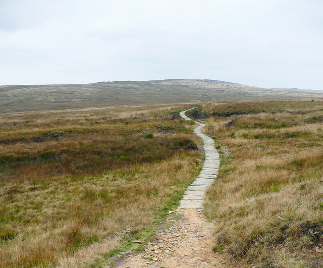 The start of the paving on the Pennine Way
