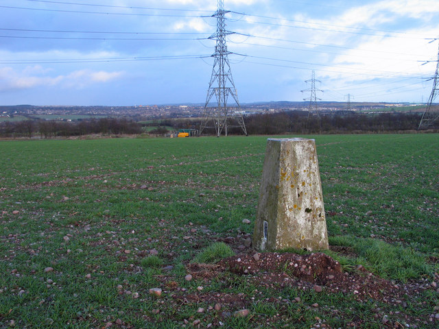 Trig point at Saredon Hill