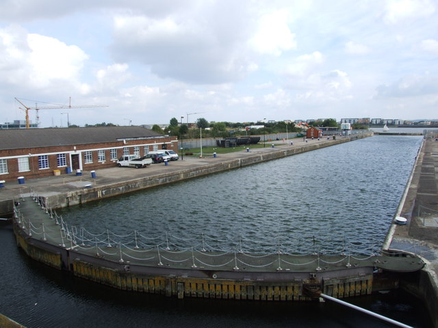 Lock between the Royal Docks and the River Thames