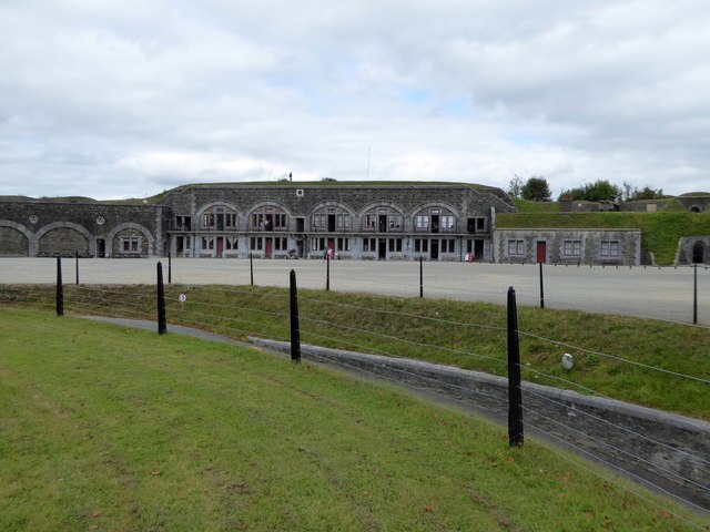 The central parade ground of Crownhill Fort