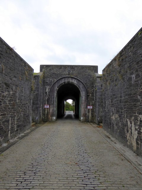 The entrance arch of Crownhill Fort