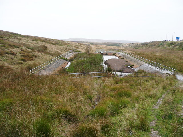 Silt trap at the head of a catchment drain