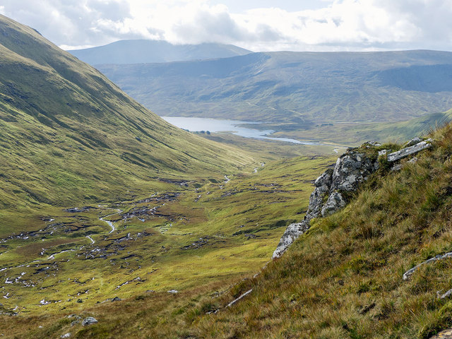 Loch Fannich from the SE ridge of Sgurr Breac