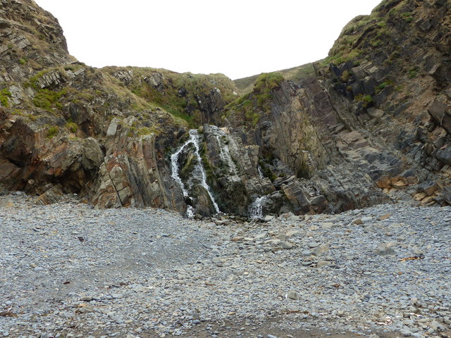 Waterfall at Welcombe Mouth