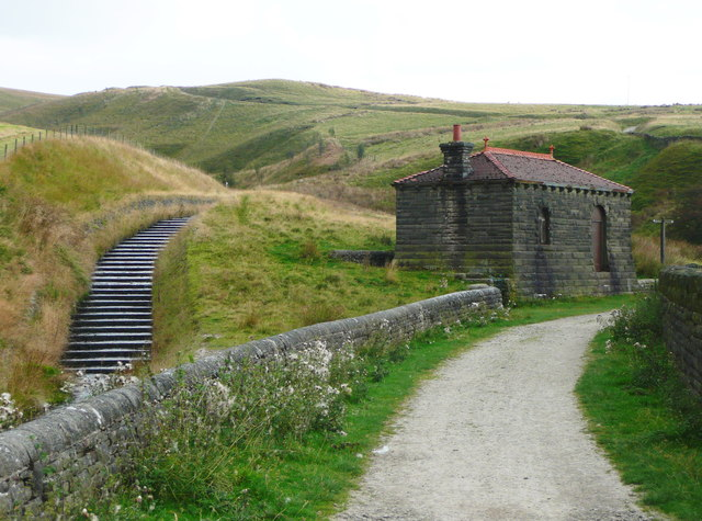 The Pennine Bridleway crossing Piethorne Clough