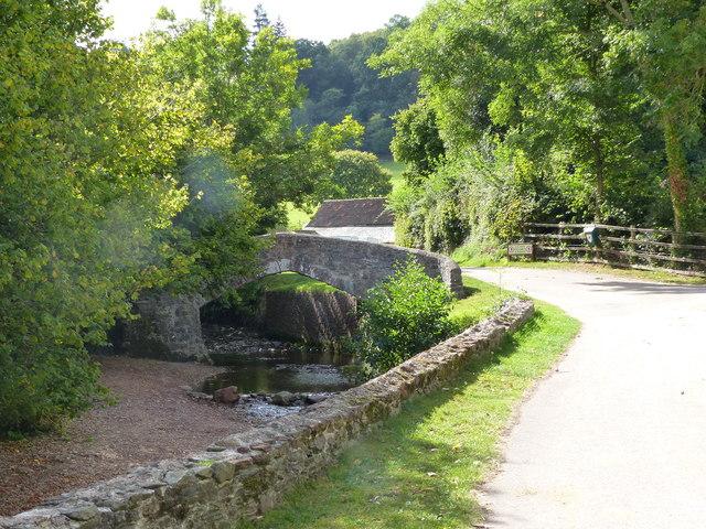 Packhorse Bridge, Burrowhayes farm, West Luccombe