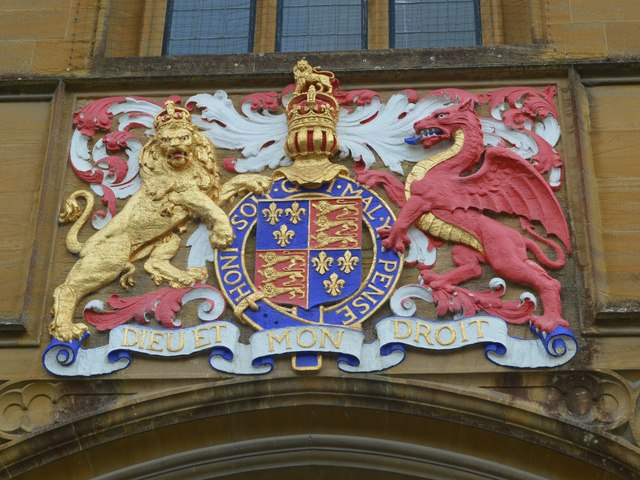 Detail on entrance to Sherborne School