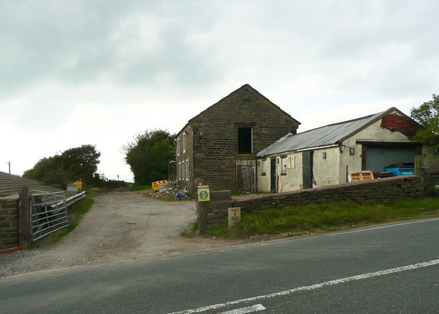Junction of the Pennine Bridleway with the A672
