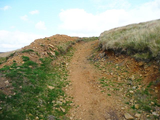 A stony track on Windy Hill