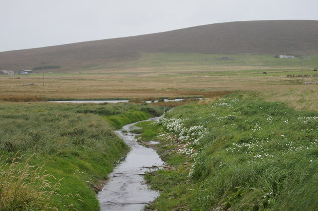 Outflow from Haroldswick pool