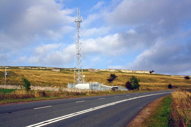Mast beside A685 Fell Road
