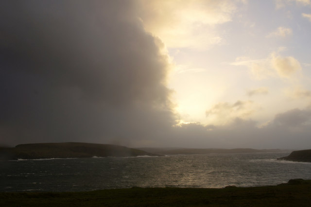 Stormy evening, Lunda Wick