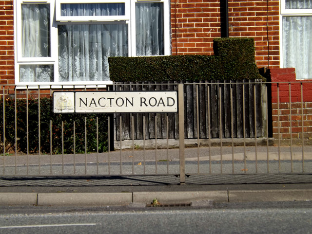 Nacton Road sign