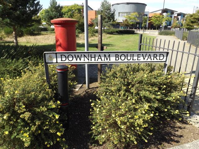 Downham Boulevard sign
