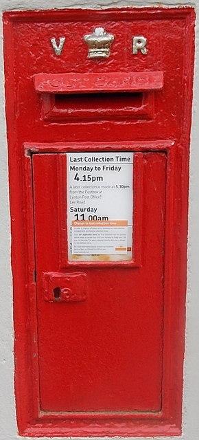 Victorian postbox in a Sinai Hill wall, Lynton