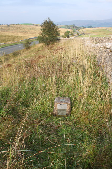 View NE along A685 from site of fundamental benchmark