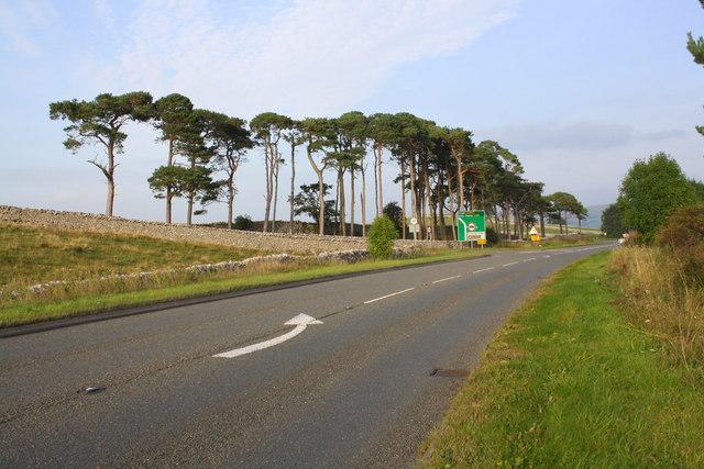 A685 Ash Fell Road approaching Lane Head
