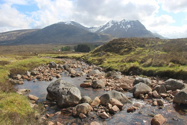 Allt a' Bhalaich looking towards Kingshouse