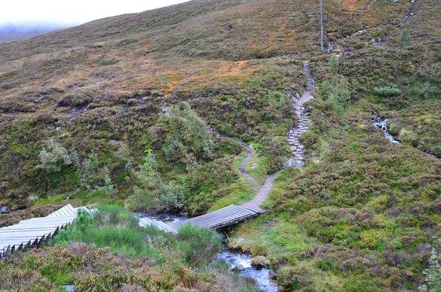 Path and bridge, Allt na Ciste