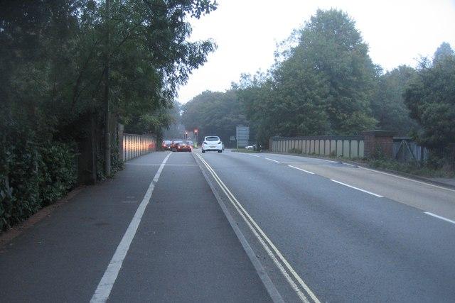 Crossing the main line - Farnborough