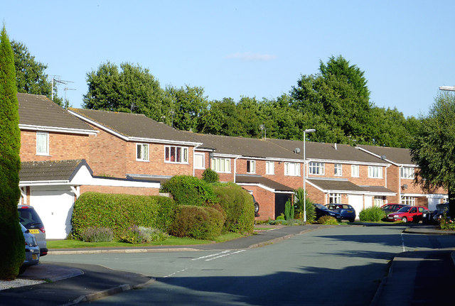 Housing in Templars Way, Penkridge, Staffordshire