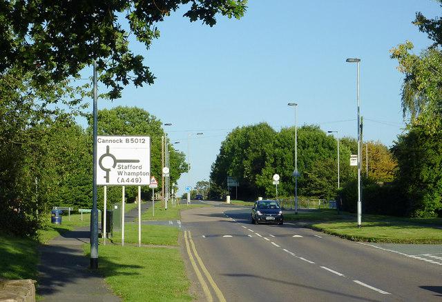 Cannock Road leaving Penkridge, Staffordshire
